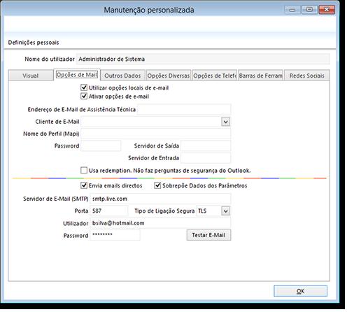 Envio de emails diretos configurados por smtp - Porta smtp hotmail ...