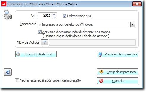 mapa mais menos valias Mapa de Mais Valias e Menos Valias no PHC Imobilizado mapa mais menos valias